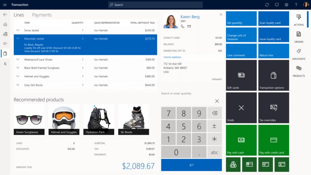 Microsoft Dynamics For Retail experiencias de compra personalizadas