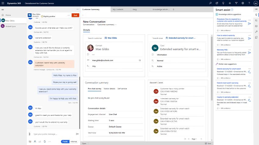 Microsoft Dynamics 365 Customer Services